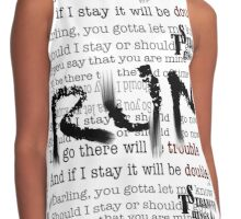 Stranger Themes Contrast Tank