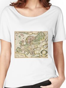 Vintage Map of Europe (1596) Women's Relaxed Fit T-Shirt
