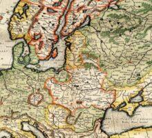 Vintage Map of Europe (1596) Sticker