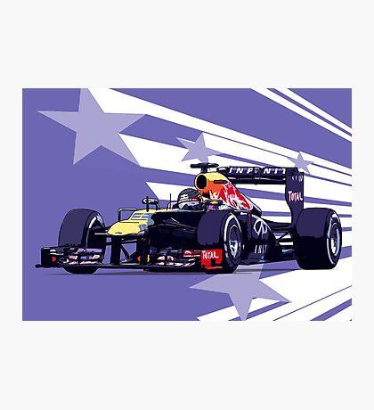Championship Cars - Vettel 2013 Photographic Print