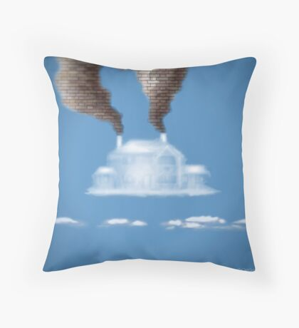 My House In The Clouds Throw Pillow
