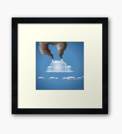 My House In The Clouds Framed Print
