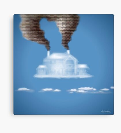 My House In The Clouds Canvas Print