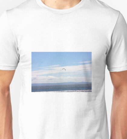 Seagull over the sea Unisex T-Shirt