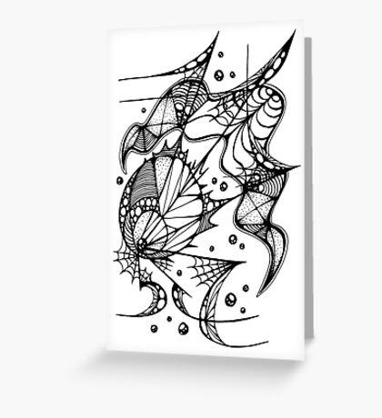 Scribble 3 Greeting Card