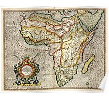Vintage Map of Africa (1596) Poster