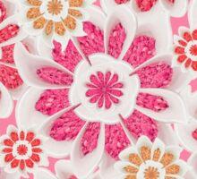 Feminine Flowers Pattern Sticker