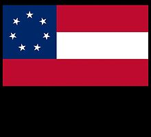 Stars & Bars; USA; First American National Flag; 7 stars; 1861 by TOM HILL - Designer