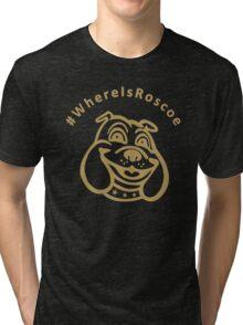 #WhereIsRoscoe (Black & Gold) Tri-blend T-Shirt