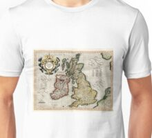 Vintage Map of The British Isles (1596) Unisex T-Shirt