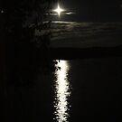 Full Moon Shine on Eagle Lake by John Carpenter
