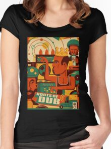 THE ROOTS OF DUB Women's Fitted Scoop T-Shirt
