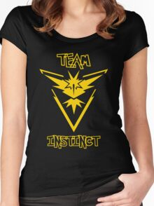 Team Instinct - Team Yellow Women's Fitted Scoop T-Shirt