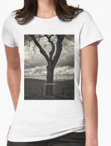 Sign Post Tree Womens Fitted T-Shirt