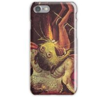Weird Demon by Hieronymus Bosch iPhone Case/Skin