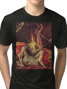 Weird Demon by Hieronymus Bosch Tri-blend T-Shirt