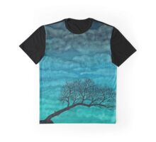 Cloudy I ~ Watercolor tree painting Graphic T-Shirt