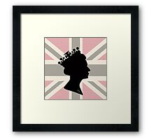 GOD SAVE THE QUEEN! (PINK) Framed Print