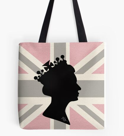 GOD SAVE THE QUEEN! (PINK) Tote Bag