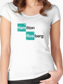 Team Hamilton Rosberg (white T's) Women's Fitted Scoop T-Shirt