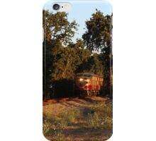 MLW ALCO FPA4 Train surrounded by trees and in the Sunset Glow iPhone Case/Skin