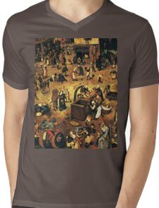 The Fight by Hieronymus Bosch Mens V-Neck T-Shirt