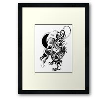 Silver and Beast Framed Print