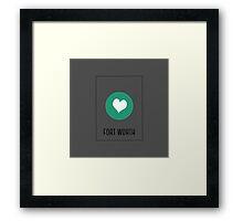 I Love fort worth Framed Print