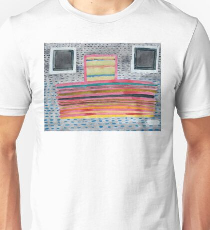 Stacked Lines and Squares Unisex T-Shirt