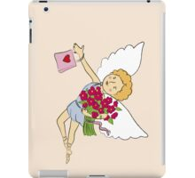 Beautiful boy with wings happy birthday  iPad Case/Skin