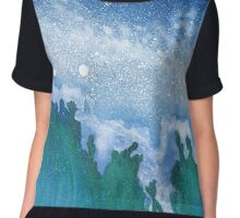 Night Sea ~ Watercolor Painting Chiffon Top