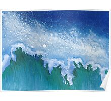 Night Sea ~ Watercolor Painting Poster
