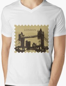 London Pos 2 Mens V-Neck T-Shirt