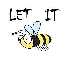Let it bee Beatles Song Lyrics Photographic Print