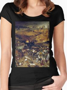 The Apocalypse by Hieronymus Bosch Women's Fitted Scoop T-Shirt
