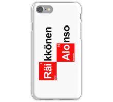 Team Raikkonen Alonso (white T's) iPhone Case/Skin