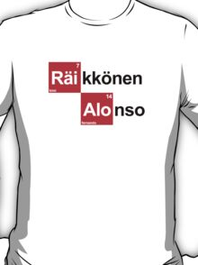 Team Raikkonen Alonso (white T's) T-Shirt