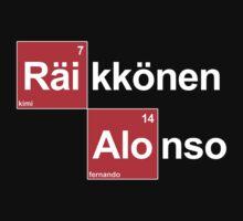 Team Raikkonen Alonso (black T's) by Tom Clancy