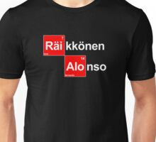 Team Raikkonen Alonso (black T's) Unisex T-Shirt