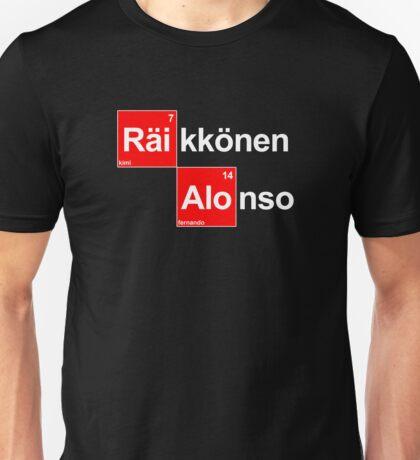 Team Raikkonen Alonso (black T's) Unisex T-Shirt