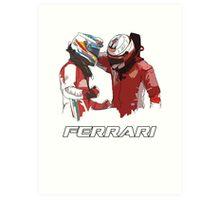 Fernando & Kimi 2014 Art Print
