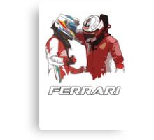 Fernando & Kimi 2014 Canvas Print