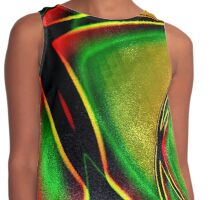Multicolored Modern Abstract Design Contrast Tank