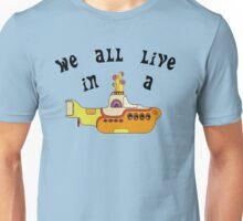 Yellow Submarine The Beatles Song Lyrics 60s Rock Music Unisex T-Shirt