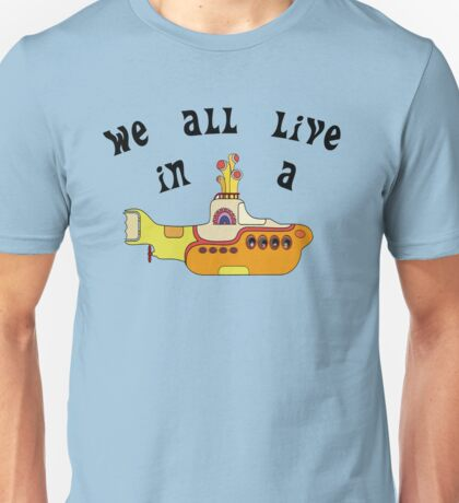 Yellow Submarine The Beatles Song Lyrics 60s Rock Music Unisex T-Shirt