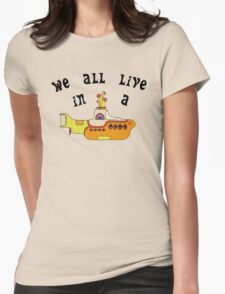 Yellow Submarine The Beatles Song Womens Fitted T-Shirt