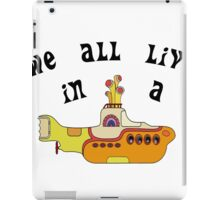 Yellow Submarine The Beatles Song iPad Case/Skin