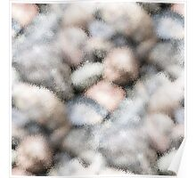 Beach stones abstract pattern Poster