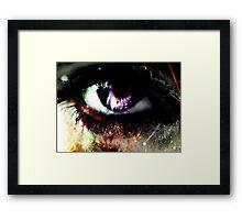 the eye of gore  Framed Print