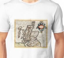 Vintage Map of Scotland (1596) Unisex T-Shirt